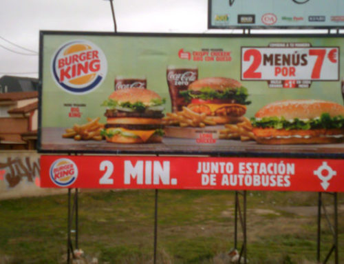 Vallas para Burger King